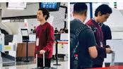 胡歌现身大兴机场被网友偶遇 拍宣传片图片超帅气