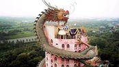 最霸气的寺庙:中式巨龙缠绕17层佛塔,宛如神话建筑