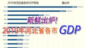 新鲜出炉!2019年河北省各市GDP排名【数据可视化】