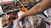 实拍: 安徽滁州农村大集猪头肉10元一斤买回卷单饼吃超美味