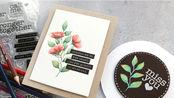 【卡片】K神印章无线稿上色|彩铅当水彩上色制作两款卡片教程|No-Line Watercoloring with Watercolor Pencils!
