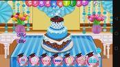 安娜公主制作了一个带学士帽的蛋糕游戏