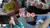 VLOG  韩国可爱女生hyesumon的日常 快递拆箱 打扫房间 煮拉面 去男朋友家玩