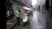 安康汉阴交警:国庆我在岗 汉阴交警为你护航