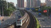 深圳地铁龙岗线列车通过金银坑