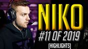 【CSGO】NiKo - STILL INSANE - HLTV.org's #11 Of 2019 (CS:GO)