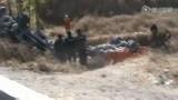 拍客实拍山西文水县一客车与货车相撞救援现场