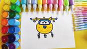 儿童简笔画教程,画超级飞侠多多,3-12岁小朋友学画画