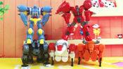 核晶少年夺晶战兽5合体超级酷变机器人