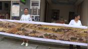 """【四川】女子耗时3年绣成6米长""""清明上河图"""" 称小的没有挑战-南充身边事-直击南充"""