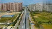 航拍安徽芜湖的轻轨2号线,全长16.2公里,预计2021年通车