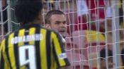 11Prijovic 2019.5.11,粉衣99号左边锋,沙特职业联赛Al-Ittihad 6_2 Al-Fateh,第15、65、69分进球,上半场