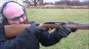小口径点22lr半自动步枪,户外打靶测试,后坐力几乎没有