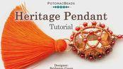 Heritage Pendant - DIY Jewelry Making Tutorial by PotomacBeads