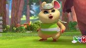 熊熊乐园-第三季:龙猫警长的警示标牌被小朋友们遮挡,这很危险