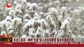 """黑龙江漠河:神州""""北极""""迎入秋首场降雪 较去年提前25天"""