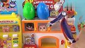 奧特曼玩具游戏奧特曼快餐汉堡店买食玩套餐5