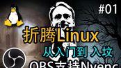 【折腾Linux】#01 如何让OBS支持Nvenc硬件编码功能,有了这个功能OBS录制更清晰而且不用担心CPU占用过高的问题了,直播时候在也没有任何卡顿