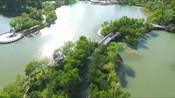 航拍江苏省盐城市盐渎公园无人机的角度游公园-新奇视野走世界-新奇视野