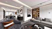 138平现代黑白灰 极具现代的设计风格