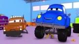 警车马特的甜甜圈 拖车汤姆在汽车城 动画片
