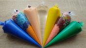 水晶泥彩泥颜色制作粘液管袋嘎吱嘎吱的粘液视频