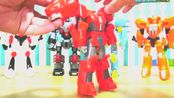 核晶少年的可以合体变形机械人益智玩具