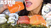 【nena】三文鱼和金枪鱼生鱼片,海葡萄,牡蛎-吃的声音[不说话](2019年10月30日5时45分)