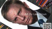彩铅人像画 丹尼尔·克雷格 | 詹姆斯·邦德 007 | 画师:郎一村