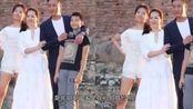 胡军夫妻补拍婚纱照,女儿当花童,一家四口高颜值令人惊叹
