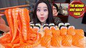 【话唠小姐姐】三文鱼面木桶!鲑鱼生鱼片+寿司卷(2019年12月12日8时45分)