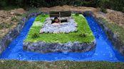 疯狂原始人探秘:村里最漂亮的蓝色蛋糕泳池