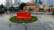 带你看看广西贺州市,市区内的国庆布置好不好看!