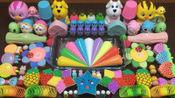 DIY制作混合随机的东西进入自制的粘液史莱姆玩具10
