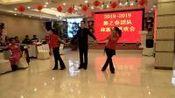 齐齐哈尔市水兵快乐舞之春团队2018.12.23年会四步造型一托二表演者扬大哥暖阳丽君视频制作风雷摄影