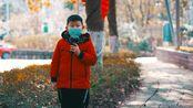 2020年 春节期间 初五 小学生戴口罩日常背古诗 a6400 56mm f1.4-4K