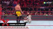 WWE美式摔跤娱乐 RAW 5.29 巴洛尔致命飞踏终结怀特 结果遭搓澡工抢功