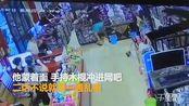 【海南】网吧遭蒙面男子打砸 警方已受理调查