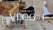 EchoLiuya'sVLOG#1  阴天 早餐吃什么 拆快递 布置书桌 study with me 