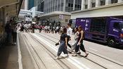 香港金钟街头 看看香港人的中国式过马路与内地人有什么不一样