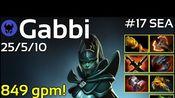 849 gpm! Gabbi [TNC] plays Phantom Assassin!!! Dota 2 7.21