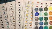 选色必看!DS水彩238色开箱试色加测评(另附圣诞色与142对比)1