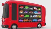 亮亮玩具汽车学习颜色, 学英语动画, 宝宝过家家游戏, 亲子早教育儿视频518