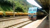 翻越秦岭的宝成线火车 SS7D牵引略阳至西安K8174次停靠凤县站