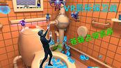 VR厕所战争:厕所充满苍蝇飞虫,是啥感觉?水枪在手越多越爽