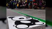 """停车位里有个""""熊猫"""",到底啥意思?交警:不懂就等着扣分"""