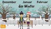 Deutsch lernen Jahreszeiten Wetter Perfekt