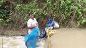 越南大叔制作的浩大水利工程,最后的附属收获让人可喜!