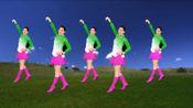 蓝蓝的天空绿绿的地,动听怀情广场舞《草原绿了》歌醉舞美附分解