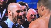 Spike O'Sullivan kisses Chris Eubank Jr at weigh-i